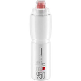 Elite Jet Plus Drinking Bottle 950ml, clear/red logo